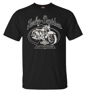 Harley-Davidson Men's Vintage Ride Crew-Neck Short Sleeve Cotton T-Shirt, Black - Wisconsin Harley-Davidson