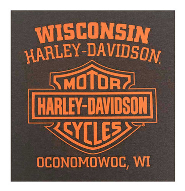Harley-Davidson Men's Eagle Dive Tri-Blend Short Sleeve T-Shirt, Heather Brown - Wisconsin Harley-Davidson