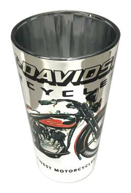 Harley-Davidson Vintage Motorcycle Pint Glass - Silver, 16 oz. 3PT4900EP - Wisconsin Harley-Davidson