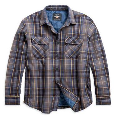 Harley-Davidson Men's Quilted Lining Plaid Cotton Shirt Jacket 96097-21VM - Wisconsin Harley-Davidson