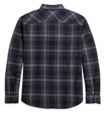 Harley-Davidson Men's Vintage Plaid Long Sleeve Woven Cotton Shirt 96099-21VM - Wisconsin Harley-Davidson