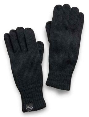Harley-Davidson Women's 3-in-1 Knit Mitten Gloves - Black & White 97622-21VW - Wisconsin Harley-Davidson