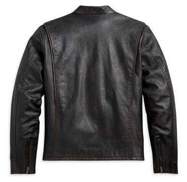 Harley-Davidson Men's Retro Sleeve Stripe Leather Jacket - Black 97009-21VM - Wisconsin Harley-Davidson