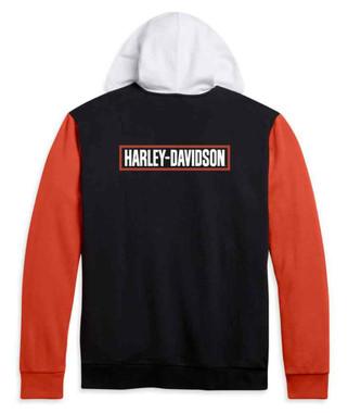 Harley-Davidson Men's H-D Logo Colorblocked Full-Zip Hoodie 96161-21VM - Wisconsin Harley-Davidson
