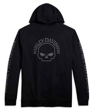 Harley-Davidson Men's Willie G Skull Full-Zip Hoodie - Black 96173-21VM - Wisconsin Harley-Davidson
