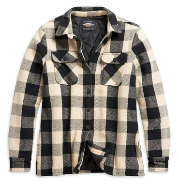 Harley-Davidson Women's Vintage Plaid Quilted Plaid Shirt Jacket 96241-21VW - Wisconsin Harley-Davidson