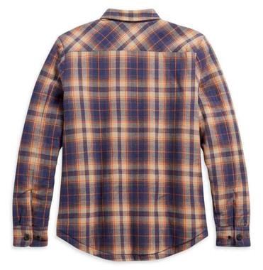 Harley-Davidson Women's Quilted Lining Cotton Plaid Shirt Jacket 96228-21VW - Wisconsin Harley-Davidson