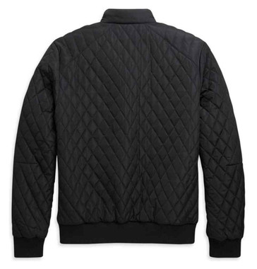 Harley-Davidson Men's Warm Quilted Bomber Casual Jacket - Black 97410-21VM - Wisconsin Harley-Davidson