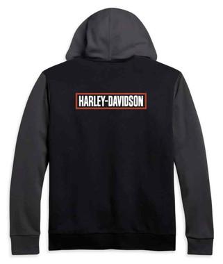 Harley-Davidson Men's H-D Logo Colorblocked Full-Zip Hoodie 96191-21VM - Wisconsin Harley-Davidson