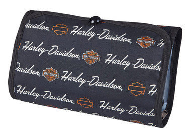 Harley-Davidson Deluxe Signature Hanging Toiletry Kit w/ Hook 98214-SIGNATURE - Wisconsin Harley-Davidson