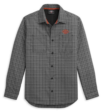Harley-Davidson Men's Plaid Performance Long Sleeve Woven Shirt 96316-21VM - Wisconsin Harley-Davidson