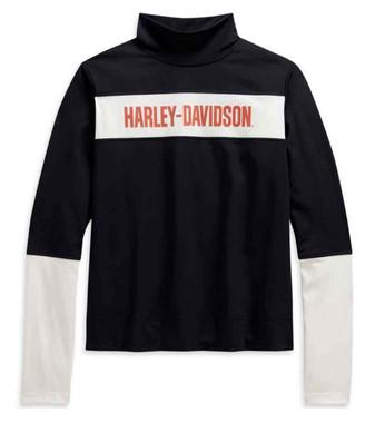 Harley-Davidson Women's Performance Wicking Colorblocked Pullover 96142-21VW - Wisconsin Harley-Davidson