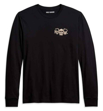 Harley-Davidson Men's Bar Bite Long Sleeve Cotton T-Shirt - Black 96044-21VM - Wisconsin Harley-Davidson