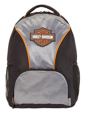 Harley-Davidson® Bar & Shield Logo Patch Backpack - Black or Silver/Black 90817