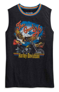 Harley-Davidson Women's The Good Life Ringer Sleeveless Tank Top 96033-21VW - Wisconsin Harley-Davidson