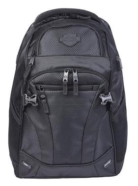 Harley-Davidson Renegade II Hi-Tech External USB Port Backpack - Solid Black - Wisconsin Harley-Davidson