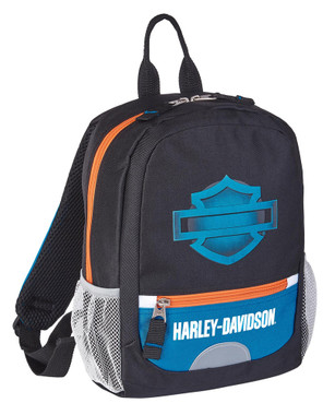 Harley-Davidson Bar & Shield Logo Electric Blue Mini Backpack - Black 99849 - Wisconsin Harley-Davidson