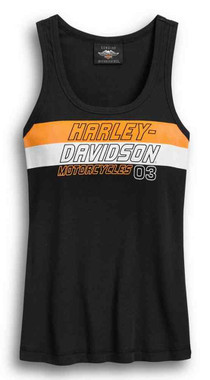 Harley-Davidson Women's Colorblocked Racing Sleeveless Tank Top 96400-20VW - Wisconsin Harley-Davidson