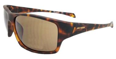 Harley-Davidson Men's Plastic Wrap Sunglasses, Matte Havana Frames/Brown Lenses - Wisconsin Harley-Davidson