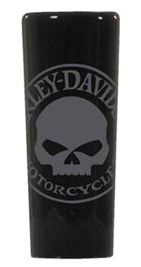 Harley-Davidson Willie G Skull Tall Shot Glass, 2.5 oz. - Black Ceramic SG119930 - Wisconsin Harley-Davidson