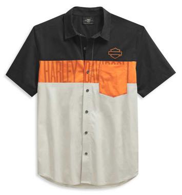 Harley-Davidson Men's Colorblock Pocket Logo Short Sleeve Shirt 99028-21VM - Wisconsin Harley-Davidson