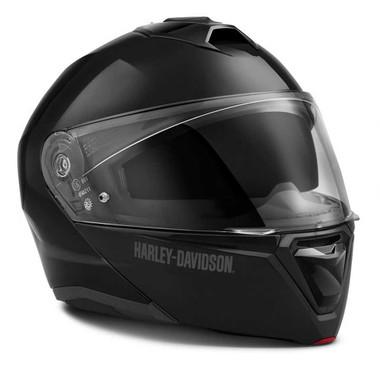 Harley-Davidson Men's Capstone Sun Shield Modular Helmet, Gloss Black 98158-21VX - Wisconsin Harley-Davidson