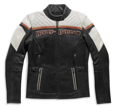 Harley-Davidson Women's Triple Vent Miss Enthusiast II Leather Jacket 98008-21VW - Wisconsin Harley-Davidson