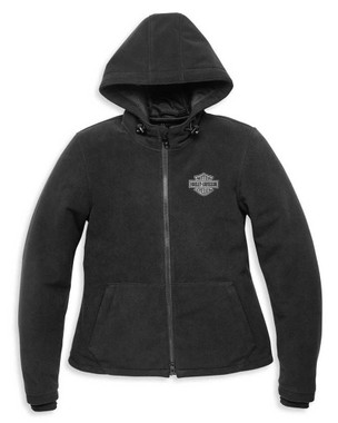 Harley-Davidson Women's Roadway II Waterproof Fleece Jacket, Black 98119-21VW - Wisconsin Harley-Davidson