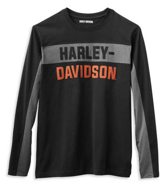 Harley-Davidson Men's Copperblock Block Letter Long Sleeve Shirt 99065-21VM - Wisconsin Harley-Davidson