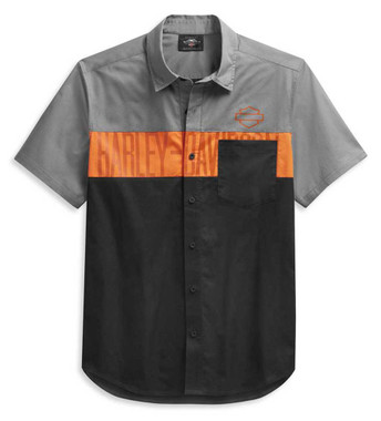 Harley-Davidson Men's Colorblock Pocket Logo Short Sleeve Shirt 99027-21VM - Wisconsin Harley-Davidson