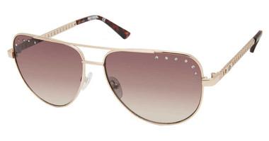 Harley-Davidson Women's Teardrop Aviator Sunglasses, Gold Frames/Brown Lenses - Wisconsin Harley-Davidson