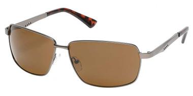 Harley-Davidson Men's Geometric Sport Wrap Sunglasses, Gunmetal Frame/Brown Lens - Wisconsin Harley-Davidson