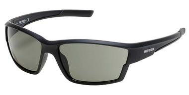 Harley-Davidson Men's Narrow Sport Wrap Sunglasses, Black Frame/Green Lenses - Wisconsin Harley-Davidson