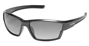 Harley-Davidson Men's Narrow Sport Wrap Sunglasses, Gray Frame/Smoke Lenses - Wisconsin Harley-Davidson