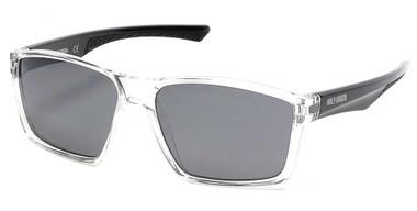 Harley-Davidson Men's Geometric Plastic Sunglasses, Crystal Frame/Smoke Lenses - Wisconsin Harley-Davidson