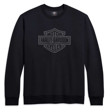 Harley-Davidson Men's Bar & Shield Logo Pullover Sweatshirt, Black 96253-21VM - Wisconsin Harley-Davidson