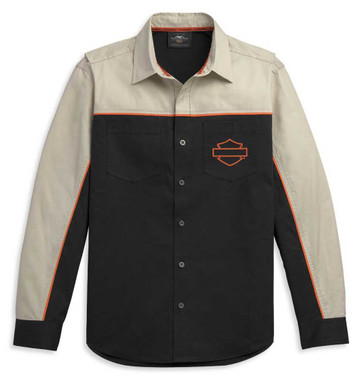 Harley-Davidson Men's Colorblock Performance Long Sleeve Shirt 96312-21VM - Wisconsin Harley-Davidson