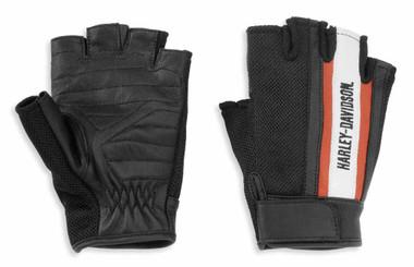 Harley-Davidson Women's Miss Enthusiast Mesh/Leather Fingerless Glove 98169-21VW - Wisconsin Harley-Davidson