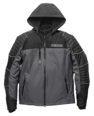 Harley-Davidson Men's Ridgeway II Waterproof Functional Jacket, Gray 98165-21VM - Wisconsin Harley-Davidson