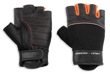 Harley-Davidson Women's New Horizon Mesh & Leather Fingerless Gloves 98171-21VW - Wisconsin Harley-Davidson