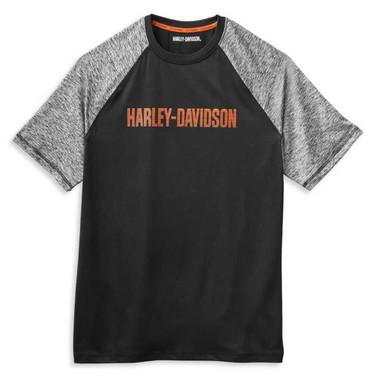 Harley-Davidson Men's Performance Colorblocked Wicking T-Shirt 99063-21VM - Wisconsin Harley-Davidson