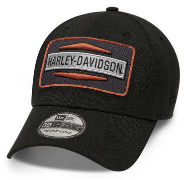 Harley-Davidson Men's Classic Logo Patch 39THIRTY Baseball Cap, Black 98610-20VM - Wisconsin Harley-Davidson