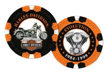 Harley-Davidson Limited Edition Series 7 Poker Chips Pack, Black & Orange 6707 - Wisconsin Harley-Davidson