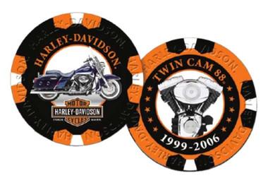 Harley-Davidson Limited Edition Series 8 Poker Chips Pack, Black & Orange 6708 - Wisconsin Harley-Davidson
