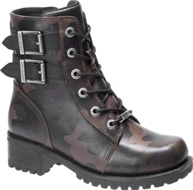 Harley-Davidson Women's Fairview Black Motorcycle Boots, D84546 - Wisconsin Harley-Davidson