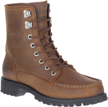 Harley-Davidson Men's Brentmoore Brown Motorcycle Riding Boots, D93760 - Wisconsin Harley-Davidson