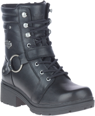 Harley-Davidson Women's Tegan 6-Inch Motorcycle Lace Harness Boots, D84706 - Wisconsin Harley-Davidson