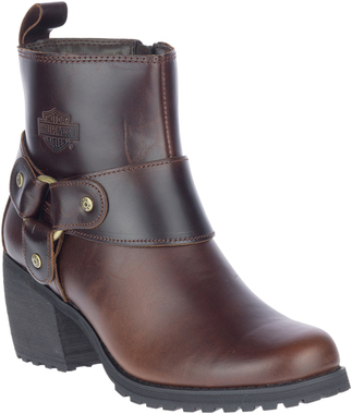 Harley-Davidson Women's Lalanne Brown Motorcycle Harness Boots, D84687 - Wisconsin Harley-Davidson