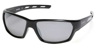 Harley-Davidson Men's Air Flow Venting Sunglasses, Black Frame/Smoke Mirror Lens - Wisconsin Harley-Davidson