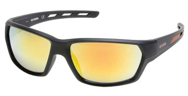 Harley-Davidson Men's Air Flow Venting Sunglasses, Black Frame/ Mirror Lenses - Wisconsin Harley-Davidson